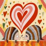 """hedgehogs in love"" by 3littlecameras"