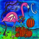 """The Fall Flamingo"" by juliryan"