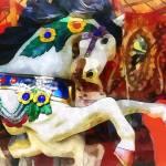 """Carousel Horse Closeup"" by susansartgallery"