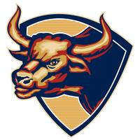 Angry Bull Head Crest Retro