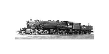28884 Steam Locomotive B&W