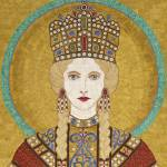 """Empress Irene of Byzantiumm- fabric mosaic"" by RemnantWorks"