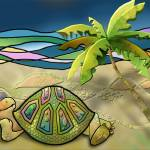 """Vacationing Turtle"" by ArtByRuta"