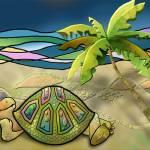 """Vacationing Turtle"" by ArtByRuta"