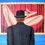 """""""Man with bowler in front of nude"""" by Bela-Manson"""