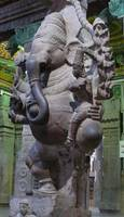 Ganesha Idol At Meenakshi Temple Madurai INDIA