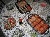 We had a lot of Sushi last night :)