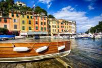 Colorful Buildings in a Harbor, Portofino, Liguria