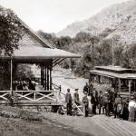 """Alum Rock Park, trolley, San Jose c1890"" by worldwidearchive"
