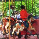 """Carnivals - Friends on the Merry-Go-Round"" by susansartgallery"