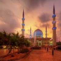 Colours Collide - Shah Alam Mosque at Sunset