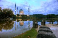 Sunrise at Shah Alam Mosque