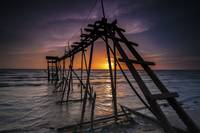 Stairway to Heaven - Sunset at Jeram Beach, Selang
