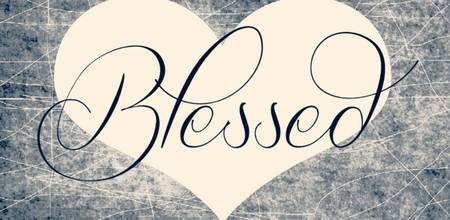 blessed heart blue cream