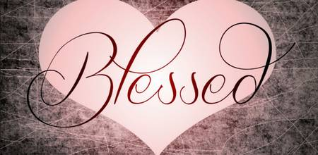 blessed heart pink black