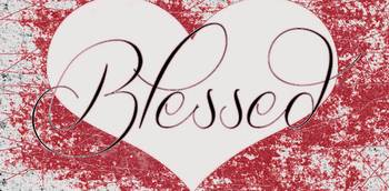 blessed heart scratchy red