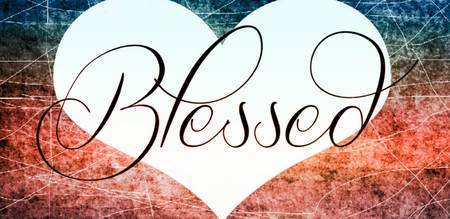 blessed heart red white blue