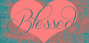 blessed heart dark pink
