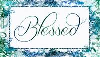 blessed frame blue teal