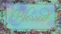 blessed frame teal and pink