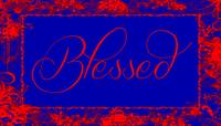 blessed frame blue red