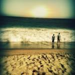 """""""Boys on Beach Sundown"""" by brookelundy"""