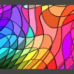 """Stained Glass Abstract w/ Border"" by TheNorthernTerritory"