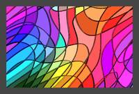 Stained Glass Abstract w/ Border