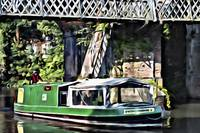 Green Barge & Bridge