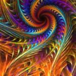 """""Pinwheel Dreams"" - Abstract Spiral Fractal Art"" by LeahMcNeir"