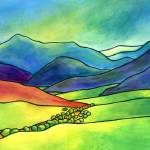 """Hills and Valleys 3"" by DebMinklerArt"
