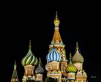 Moscow St. Basils Cathedral at Night