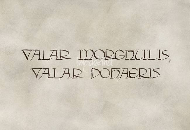 a song of ice and fire  How does Valar morghulis