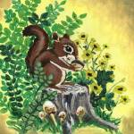 """Woodland Friends Squirrel"" by lotuspetals"