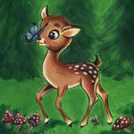 """Woodland Friends Deer"" by lotuspetals"