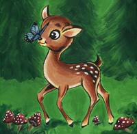 Woodland Friends Deer