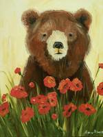 Bear In Poppies
