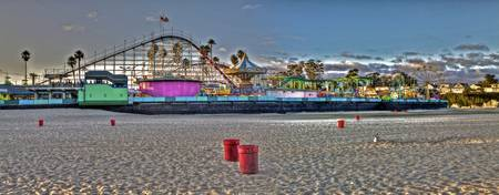 Santa Cruz Boardwalk View from the Beach