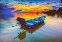 A Sampan and Her Sunrise
