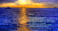 Psalm 23, Tropic Sea and sunset (new)
