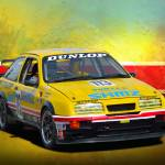 """Group A RS500 Ford Sierra"" by StuartRow"