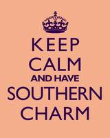 Keep Calm and Have Southern Charm PEACH
