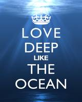 Love Deep Like The Ocean 8x10