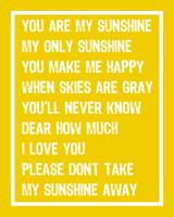 You are my sunshine FULL v2 16x20 PINEAPPLE White