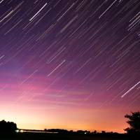 Sunrise with Star Trails Art Prints & Posters by Micah Flack