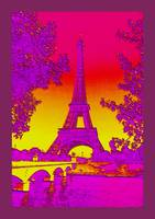 Eiffel Tower Paris France Enhanced 2 with border