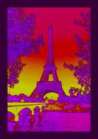 Eiffel Tower Paris France Enhanced plus indigo tin