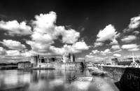 Caerphilly Castle 3 Monochrome