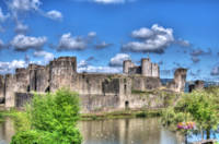 Caerphilly Castle Painterly