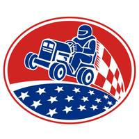 Ride On Lawn Mower Racing Retro